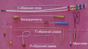 Лоза, биолокационные рамки, биолокационный маятники